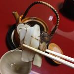 楽 - 土瓶蒸しの松茸〜香り無し、食感のみ