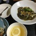 中国精進料理 凛林 - フィンガーボールはジャスミンティ?又は烏龍茶らしいです!指に蟹の香りが付かぬようにとおしぼりも3回も替えてくださった