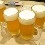 手打ち蕎麦 雷鳥 - 生ビール