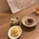 食事 太華 - 芋田楽、酢蓮、ポテトサラダ