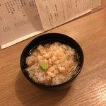 食事 太華 - 芝海老、ミョウガ