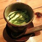 9455138 - 茶碗蒸し これは冷製です。 上にはプチプチ食感の海ブドウが乗ってます。