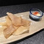 創作和食居酒屋 あまがえる - エイヒレの炙り焼き 燻製マヨネーズで