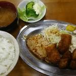 ミヨシ - 料理写真:ミックス定食 700円