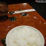 笠間苑 - 店のオバチャンにスープを溢される!!!