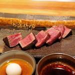 神楽坂 鉄板焼 中むら - 川岸牧場産 神戸牛シャトーブリアン80g のステーキ
