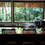 キッチン イトウ スタイル - 緑も 眺められる カウンター