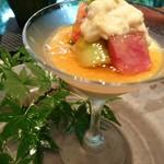 キッチン イトウ スタイル - フォアグラの冷製フラン 米沢牛サーロインと生湯葉の 取り合わせ う〜〜ん        サーロイン  フラン それぞれは     美味しい