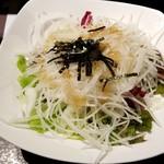 いきなりステーキ - 大根とレタスの和風サラダ:250円税別