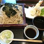 清水 - 料理写真:特製天ざるの二色汁大盛 1650円+300円(税込)