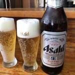 こんぴらうどん 富士 - アサヒ中瓶♪ 600円