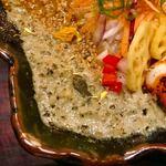 バガワーン・カレー - 合鴨と若鶏のキーマカレー ベジグリーンソース和え