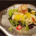 白 - サラダ、素麺