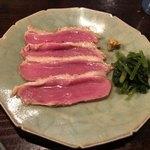 しらかめ - 料理写真:おつまみ三点盛り、①鴨のロース