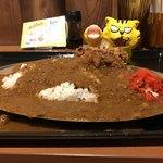 カレー食堂 マッハ - 唐揚げカレー700円(税込) ※真横から