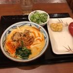 丸亀製麺 - うま辛坦々うどん並&鶏天