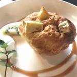 prato cafe - ★★★☆ サツマイモとチーズのマフィン 中にごろっとクリームチーズ