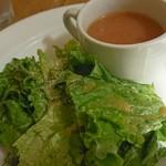 キンボシ パスタ カフェ - サラダ&スープ♪
