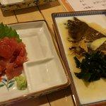 9459512 - 晩酌セット  刺身&煮魚
