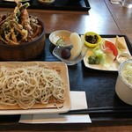 さかい - 海老天丼セット 1300円