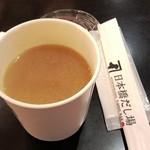 日本橋だし場 - 「麦味味噌仕立てきのこ汁」(360円)