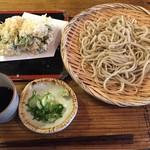 浅見製麺所 - 天もり一種(田舎蕎麦) 1000円