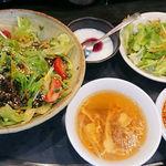 94593393 - カフェ風坦々丼+ミニ麻婆豆腐