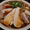 ラーメン あおやま - 料理写真:鶏ブラック麺大盛、肉増し