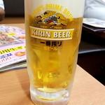 日高屋 - キリン一番搾り生:330円