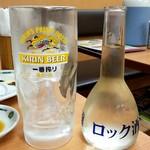 日高屋 - 吟醸ロック酒20度:390円