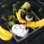 ル ベナトン - ウッフ ポッシェと季節の野菜のサラダ仕立て