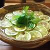 美糸 - 料理写真:酢橘と三つ葉の香りかけおうどん