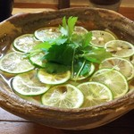 美糸 - 酢橘と三つ葉の香りかけおうどん