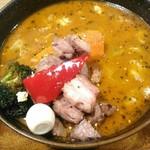 スープカレーGARAKU - 【2018/10】炙り生ラムのサイコロペッパー風味