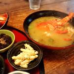 鬼扇 - 伊勢海老のお味噌汁