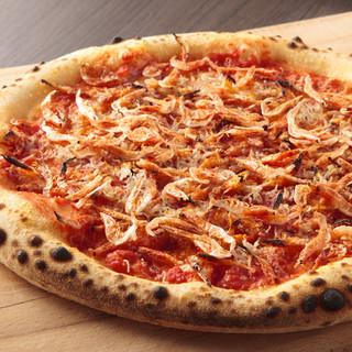ベーシックなピザはもちろん、こだわりのオリジナルメニューも!