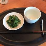 農産物直売所 ほのか - 料理写真:太白油に生姜で香り付け、アンチョビと共に刻んだ大根菜を炒め醤油チラリ