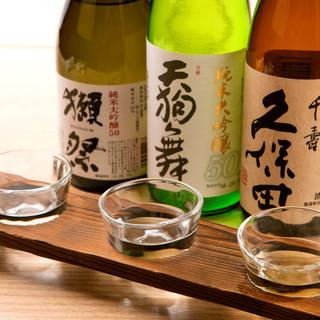 和食に合うドリンクを多数ご用意。ご当地の地酒やこだわり焼酎等