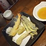 魚椿 - 天ぷら4種盛