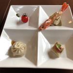中華バルSAISAI。 - 前菜四種