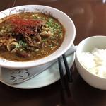 中華バルSAISAI。 - 四川担々麺、ご飯
