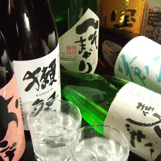京都をはじめ全15種類の地酒をご用意。自家製ドリンクも