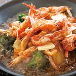 とり鉄 - ごろごろ根菜の海老味噌アヒージョ