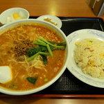 香羽楼 - タンタン麺セット
