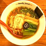 Noodle Stand Tokyo - 煮干ラーメンチャーシュー抜き小松菜増し、ローカーボ麺