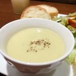 94632180 - 白菜ポタージュ                       白菜が嫌いなミミィにはちょっとニガテな味だったけど、白菜好きならきっと美味しいハズ