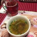 さわやか - 料理写真:季節の野菜スープ、乾杯ドリンク