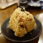 博多鶏塩らぁめん みやびや - 200円の鶏めしは、ランチタイムは50円引きになります。