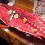魚酒場ピン - 国産天然本マグロ骨付きを1本分丸ごとサプライズ! \(//∇//)\
