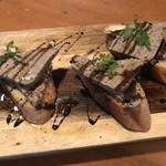 バル&ビストロダイニング Knutsford Terrace - 朝獲れ鶏のレバーパテ メルバトースト